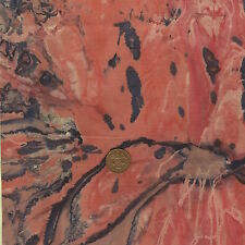 Timeless Treasures Batik B2393 Coral (pink Orange Navy) 100 Cotton Fat Quarter