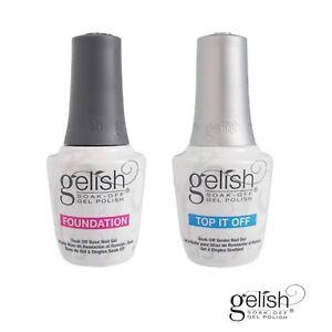 GELISH Nail Polish Gel  FOUNDATION or TOP IT OFF Base/Top Coat 15ml
