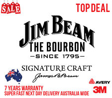 JIM BEAM STICKERS DECALS. FRIDGE, CAR OR BAR STICKERS GREAT QUALITY WHITE