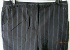 EP Pro Stretch Knit Bermuda Golf Shorts Striped Zip Fly 4 Pockets Women Size 14