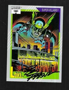 Ron Frenz signed Marvel Universe 1991 card 89 LOKI