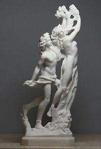 Apollo & Daphne Bernini Greek Roman Nude God Cast Marble Statue Sculpture 11 in