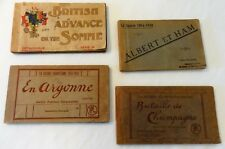 Set of 4 Books of Vintage Post Cards–3 from La Guerre and 1 British Advance-1914