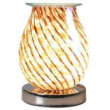 Desire Aroma Oval Wax Melt Burner Touch Sensitive 3D Lamp Swirl Lights Design