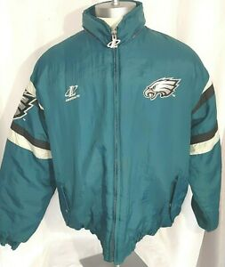 VINTAGE Philadelphia Eagles Logo Athletic NFL Pro Line Winter Jacket Coat  XL