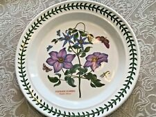 "Portmeirion Botanic Garden Dinner Plate Clematis Florida 10.5""  England"