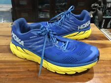 Hoka One One Clifton 6 Mens Size 13 M Blue/ Yellow Pre-owned