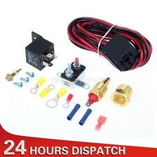 """Radiator Engine Fan Thermostat Temp Switch Relay Kit 3/8"""" Pipe Thread 4 Pin"""