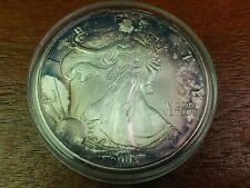 2003 Beautifully Blue/Purple Toned American Silver Eagle!