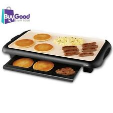 Indoor Electric Grill Pan Ceramic Griddle Kitchen Non-stick Pancake Large NEW