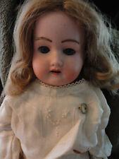 A & M Armand Marseilles Porcelain Doll 370 Sleepy Eye Glass Teeth Brows Antique