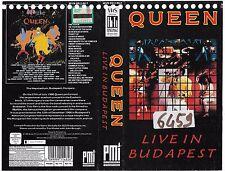 QUEEN - LIVE IN BUDAPEST(1987) vhs ex noleggio