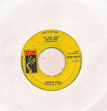 """Frederick Knight I've Been Lonely For So Long UK 45 7"""" single +Lean On Me"""