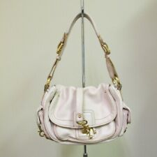 MARC JACOBS Beige Leather Solid Flap Drawstring Closure Medium Purse B5041