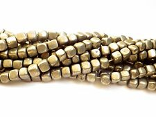 8mm Pyrite Square Nugget Beads