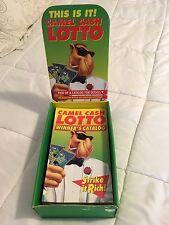 Camel Cash Lotto Store Display / Box And Catalogs, 1993, RJRTC, w/ Smokin' Joe