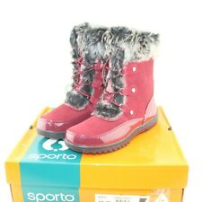 SPORTO womens winter boot shoe multiple size tawny port minor style mid-calf NEW