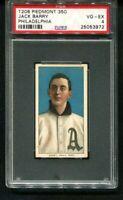 1909-11 T206 Piedmont JACK BARRY Portrait member of $100,000 infield PSA 4
