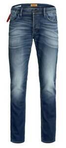 Jack & Jones Jeans Homme Stretch Pantalon Slim Fit Neuf W 29 31 32 33 34
