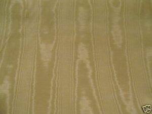 4yds ELEGANT CLASSIC  WATERMARKED BEIGE MOIRE FABRIC  PERFECT FOR DRESS OR DECOR