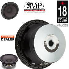 """18 Sound / Eighteen Sound 8M400F 8"""" Ferrite Speaker Mid-Range 8Ω Peak 650W"""