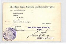 CB67 1930 GB YORK MUSEUM *Yorkshire Philosophical Soc* ROSE CACHET Card Norway
