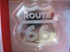 1 OZ.999 SILVER SHIELD COIN GET YOUR KICKS ON ROUTE 66 GREAT 4 HARLEY RIDER+GOLD