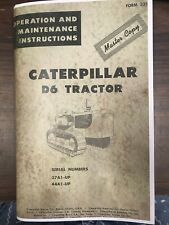 Caterpillar D6 D6B Operation and Maintenance Manual 37A1-Up 44A1-Up 33514 Book
