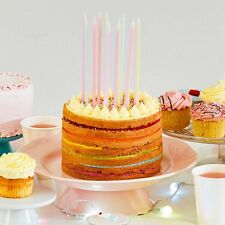 """Pastel Birthday Candles """"We Heart Pastels"""" Extra Long Party Cake Candles x 16"""