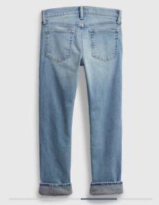 ***NWT BOY'S GAP WINTER FLEECE LINED JEANS PANTS Size 14 ADJUSTABLE WAIST