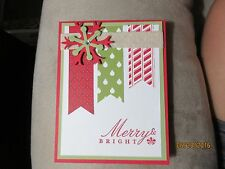 Handmade Christmas Greeting Card Merry and Bright - using Stampin Up products