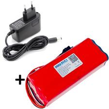 batteria Li-Ion 4S 10500 mAh 14,4V rossa + caricabatteria droni aerei barche RC