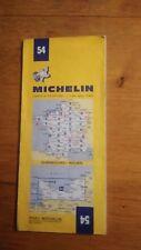 Carte Michelin « Cherbourg - Rouen » N°54 - 1974