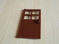 Lego 1x 60623 Reddish Brown Door 1x4x6 with stud handle & 4 panes - 4184, 10251