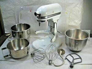 Vintage Hobart Kitchen Aid K5-A,  10 Speed Mixer w/ Bowls & Accessories