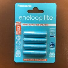 NEW 4 Panasonic Eneloop Lite AAA HR03 NiMH Rechargeable AAA Batteries 550mAh