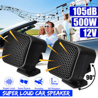Pair 12V 500W Car Audio Music Stereo Super Sound High Tweeter Speaker 91DB