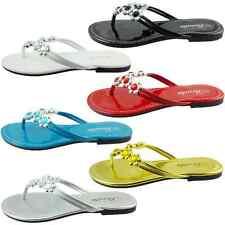 VENUS-07 Women Bling Party Sandals Flat Shoes Flip Flops Thong Size 5,6,7,8,9,10