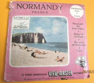 VINTAGE 1960s VIEW-MASTER  REELS  NORMANDY