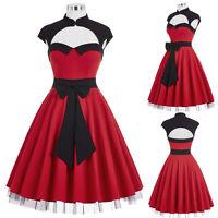 50er Jahre Pin Up Vintage Hausfrau Kleid Tanzkleid Retrokleid / Petticoat Rock