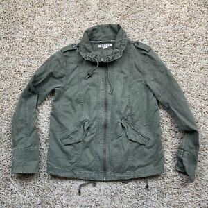 Roxy Jacket Womens Size Medium Army Style Green