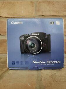 Canon PowerShot SX500 IS 16.0MP Digital Camera - Black (6353B001)