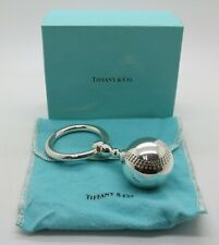 Tiffany & Co Silver One Sided Baseball Baby Rattle Teether Rare Vintage