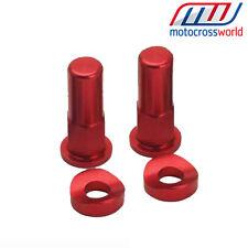 RFX Rosso anodizzato ma resistente Dadi & Rondelle cr125/250 crf250/450 Honda Universale