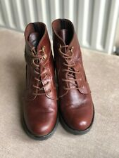 Brown/Mahogany Leather Boots Size 3