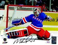 Mike Richter autographed signed 8x10 photo NHL New York Rangers PSA COA