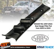 SAAS Dual Gauge Pillar Pod Nissan GU Y61 PATROL 1997-15 Suits 2 inch 52mm Gauge