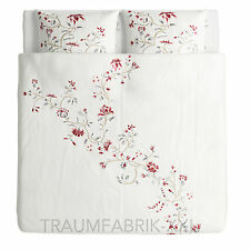 IKEA rödbinka draps literie 240x220 cm Set de Linge de lit Fleur à fleurs 3-TLG