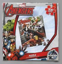 New Sealed Marvel Avengers 100 Pieces Jigsaw Puzzle 9 x 10 NWT Stocking Stuffer