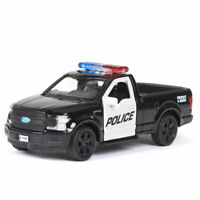 Ford F-150 Police Pickup Truck 1/36 Scale Model Car Diecast Gift Toy Vehicle
